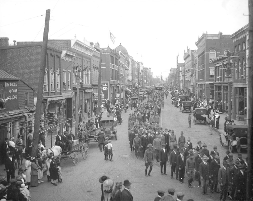 East Main Street, 1917 photograph by Rufus Holsinger
