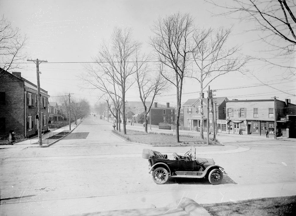 West Main Street, 1917 photograph by Rufus Holsinger