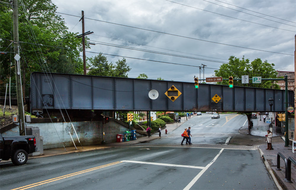 14th street rail bridge, 2013 photograph by Stacey Evans