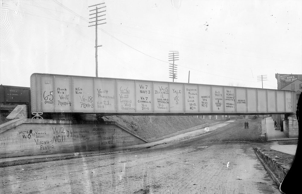 14th street rail bridge, 1906 photograph by Rufus Holsinger