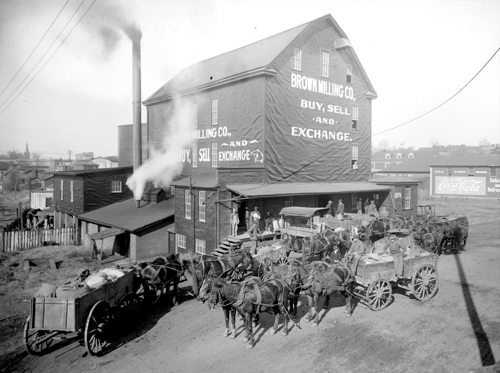 Brown Milling Company, 1917 photograph by Rufus Holsinger