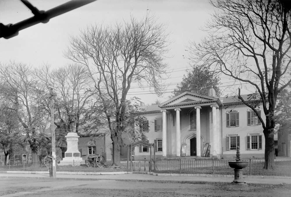 Albemarle County Court House, 1910 photograph by Rufus Holsinger