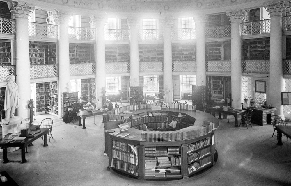 Rotunda Dome Room, vintage photograph by Rufus Holsinger