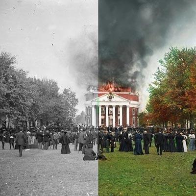 Rotunda Fire: Colorized