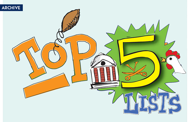 Want to know the top 5 hidden gems around Grounds? The all-time leading sports scorers? Top foods at the dining hall?